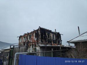 Махаевы. Сгорел дом у многодетной семьи