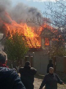 Сковпень. Пожар лишил дома многодетную семью.