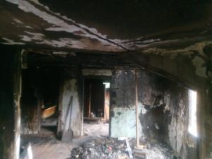 Полицыны. В многодетной семье сгорел дом.