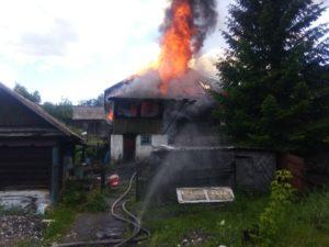 Кураковы. У многодетной семьи  сгорел дом.